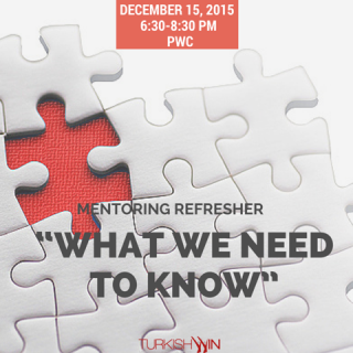 "Mentoring Refresher ""What We Need To Know"""