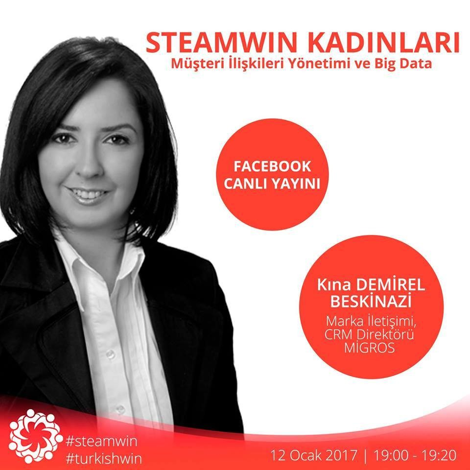 STEAMWIN Online Event: Kına Demirel; Marketing Communications & CRM Director at Migros Ticaret A.Ş.